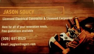 Licensed Electrician and Licensed Carpenter