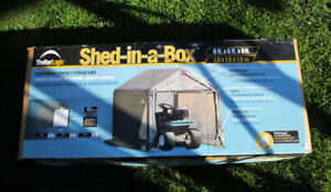 OUTDOOR SHED 6ft X 6ft X 6 ft SHELTERLOGIC - $ 100 FIRM