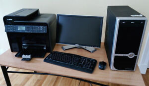 """Desktop computer and DELL 19"""" 1440x900 LCD Monitor"""