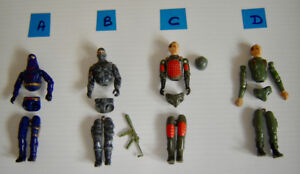 GI Joe Vintage 1980s Action Figures
