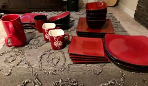 Mishmash of red dishes