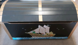 Solid Wood Pirate Treasure Chest