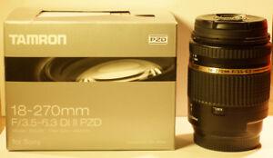 Lentille Tamron 18-270mm F/3.5-6.3 Di II PZD pour Sony