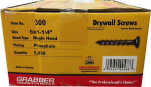 Grabber 1-1/4 Coarse Thread Drywall Screws $44.99 (6030 50 st)