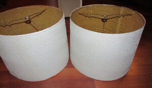 Fibreglass Lamp Shades x 2 - Antiques $10 for both