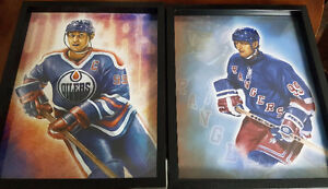 Two Great Wayne Gretzky Prints in Frames - MAN CAVE