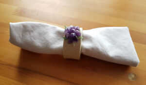 Napkin rings with amethyst