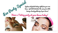 $20 Special -Eyelash & Eyebrow Tinting Party -