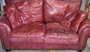 Matching Red Leather Loveseats London Ontario image 2