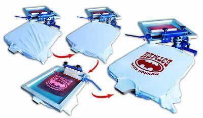 1color Screen Printing Machine Press Printer With Rotary Screen Holder Shirt Diy