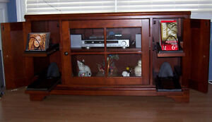 Cherry TV Console / Entertainment Unit London Ontario image 2