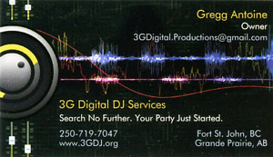 DJ Services  (www.3gdj.org ) Weddings, Corporate Events