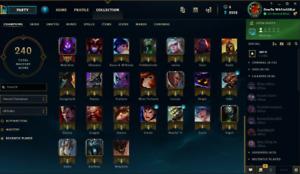 league of legend account
