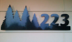 Custom plasma cut house numbers or signs