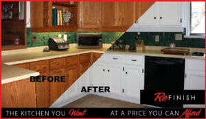 Refinish your kitchen a cheap alteritive to replacing