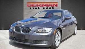 2007 BMW 335I COUPE GREY ON RED DAKOTA LEATHER**ONLY 108,000KM