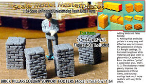BRICK-PILLAR-COLUMN-SUPPORT-FOOTERS-4pcs-Scale-Model-Masterpieces-Sn3-1-64