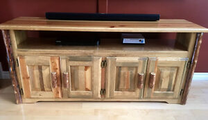 Amish Log Furniture - TV Stand