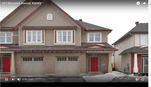 Room for Rent in Kanata/Semi-Detached house