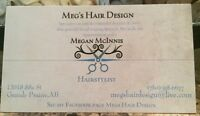 At home hairstylist 10% off colors!!