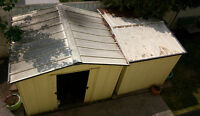 Two metal sheds to give away