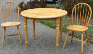 Wood Kitchen Table Set with two chairs