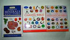 Chakra Bible/ Meditation Bible 13$/Guide to minerals 18$