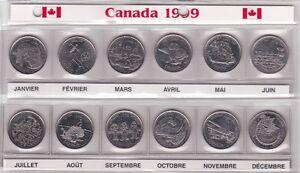 MONNAIE SERIE DE 25¢ DE 1999......