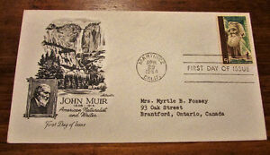 1964 John Muir American Naturalist 5 Cent First Day Cover Kitchener / Waterloo Kitchener Area image 1