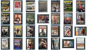 Sport books and magazines collection