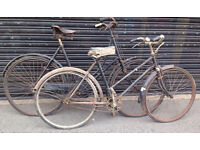 Set Of Two Vintage Adults Bikes