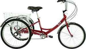 Adult Tricycle 5 Speed red Trike