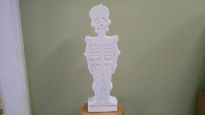 "SKELETON, 30"" Lighted Blow Mold Halloween Decoration"