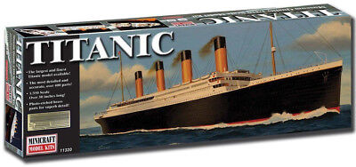 Minicraft RMS Titanic Deluxe W/ Brass Railings 1/350 Plastic Model Ship 11320, usado comprar usado  Enviando para Brazil