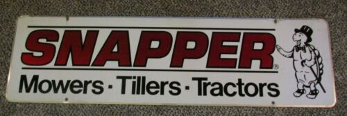 Vintage SNAPPER Mowers ~ Tillers ~ Tractors Double Sided Advertising Store Sign