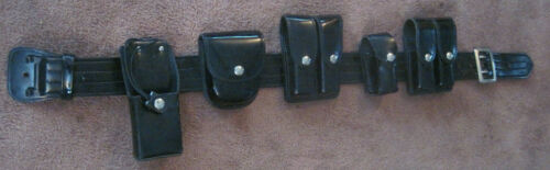 Vintage Don Hume Police - Security Guard Duty Belt With Attachments Size 30