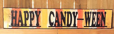 AG Designs Halloween Decor - Long Mantle Sign Happy Candy-Ween #82422