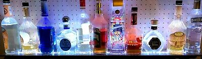 40multi-color Led Liquor Bottle Display Custom Bar Shelf Wremote