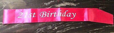 21st Birthday sash - 21 Sash