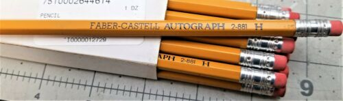 Box Of (12) Faber- Castell Autograph 2-881 H Pencils MILITARY ISSUE [OFF]