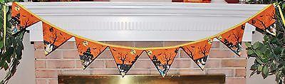 Halloween Ghosts Boo Hoo Pennant Banner Flags Reversible - Boo Hoo Halloween