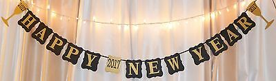 Happy New Years 2017 Party banner decoration. Gold/black](New Years Decorations)