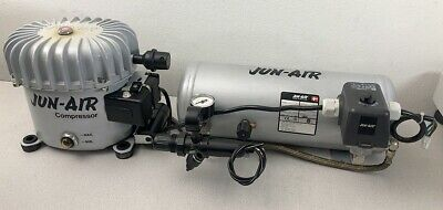Nice Jun-air Model 6-5 Portable Air Compressor 120 Volt 1.32 Gal 5 Liter Tank