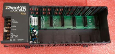 Automation Direct D2-06b Power Supply W 6 Card Slot Holder Direct Logic 205