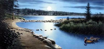 Jerry Raedeke  Mississippi Headwaters  Lake Wood Duck Print Signed Numbered