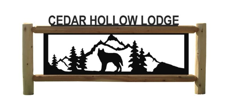 PERSONALIZED WOLF SIGN - WOLVES       #D6
