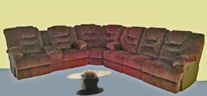 3 PC Fabric Sectional with 4 Recliner Seats $1898