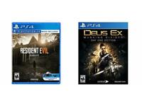 Resident Evil 7 + Deus Ex Mankin Divided Ps4
