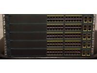 5x CISCO Layer 2 switches Catalyst WS-C2960-24TC-L