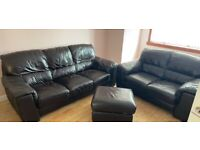 Brown leather sofa set FREE